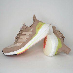 Adidas Ultraboost 21 Pale Pink Women Running Sz 7